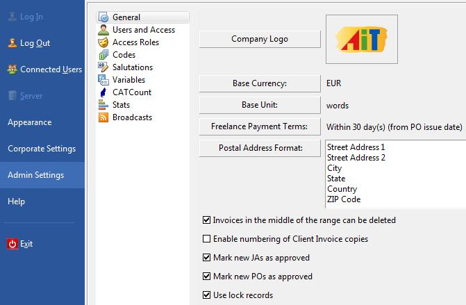 Projetex 8 Server Administrator