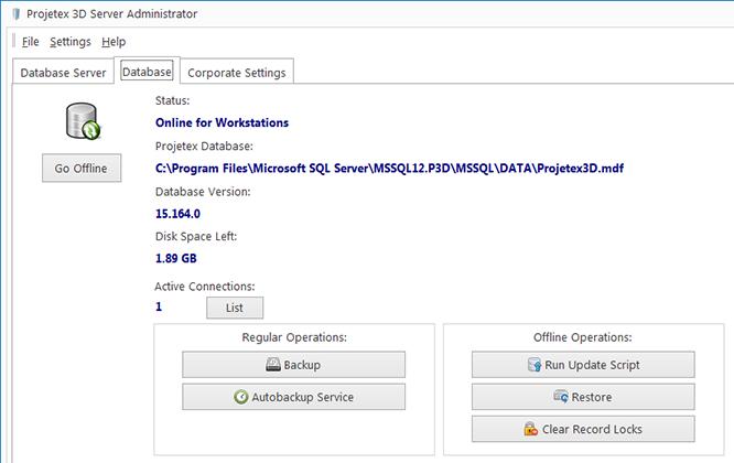 Projetex3D server administrator