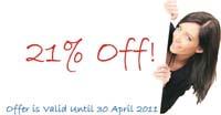 21% Off