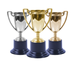 Gold Silver Bronze Trophies